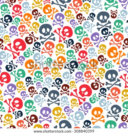 cute colorful skulls and