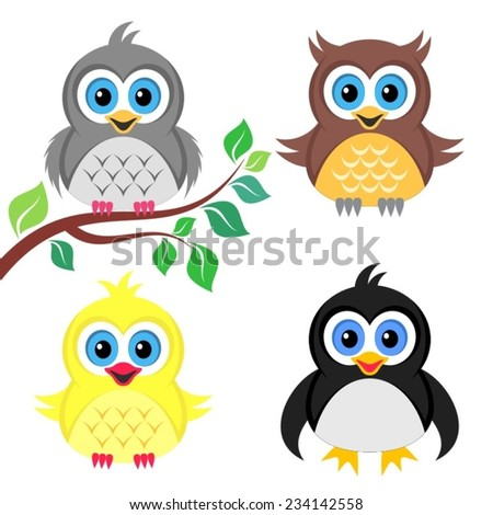 colorful cute owl vector - photo #14