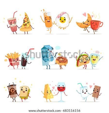 cute comic food cartoon