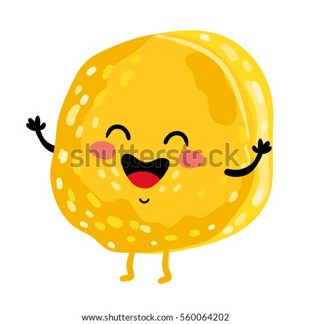 cute cookie cartoon character