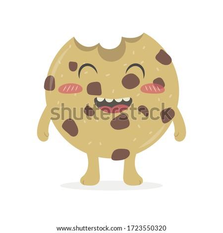 cute cookie vector cartoon