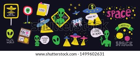 cute cosmos stickers set