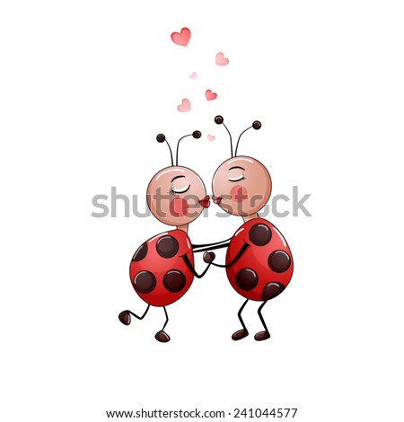 cute couple of lady bugs