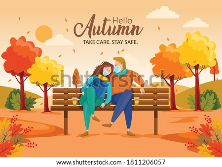 cute couple sitting on bench