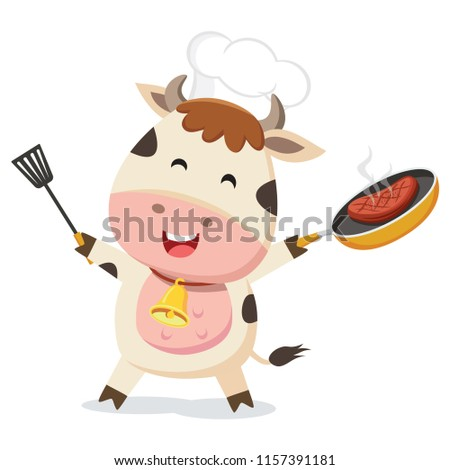 Cute cow chef
