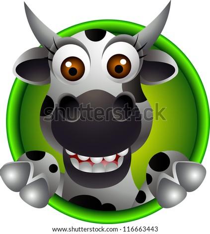 Face Cartoon Cartoon Cow Face Cute Cow