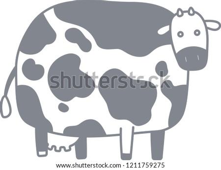 Cute cow silhouette illustration