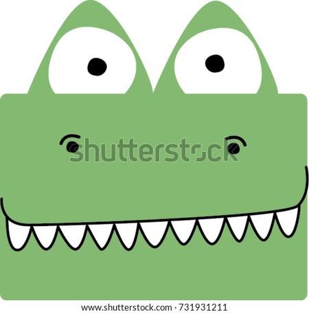 cute crocodile face