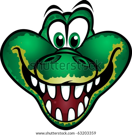 Cartoon Gator Head http://www.shutterstock.com/pic-63203359/stock-vector-cute-crocodile-head-mascot-separated-into-layers-for-easy-editing.html