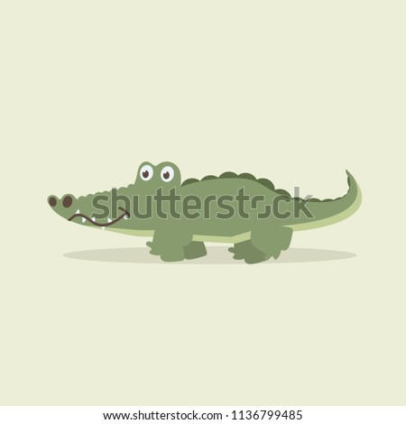 cute crocodile walking cartoon