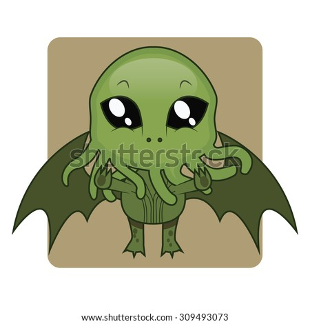 cute cthulhu halloween monster