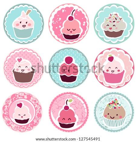 Cute Cupcake Logos Cute Cupcake Tags