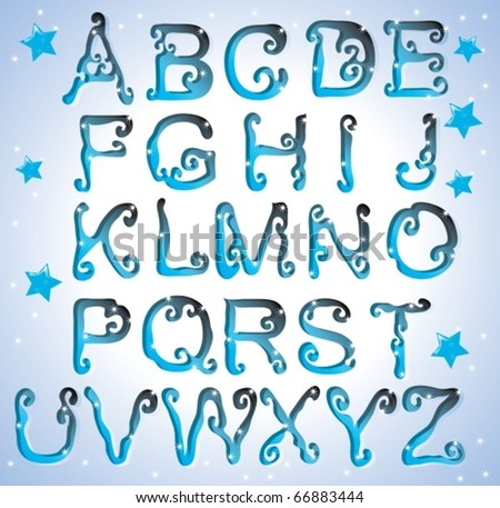 Cute curved alphabet