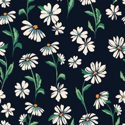 cute daisy print - seamless background