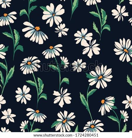 cute daisy print - seamless background Сток-фото ©