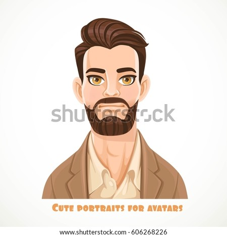 cute dark haired bearded man