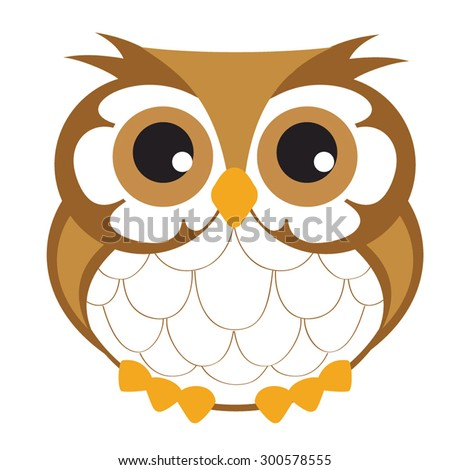 cute decorative vector owl
