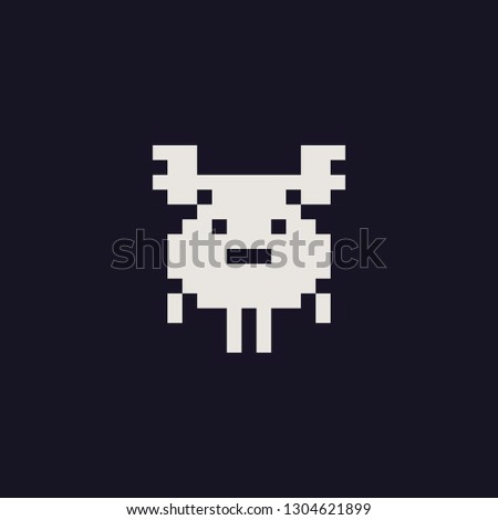 Safety Stock - Cute deer abstract character pixel art style icon