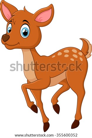 cute deer cartoon