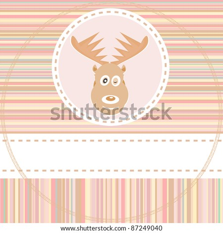 cute deer face animal on brown vector background wallpaper