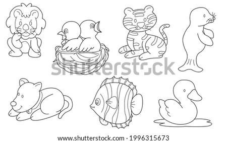 cute design animal outline