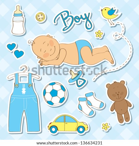 cute design elements for baby