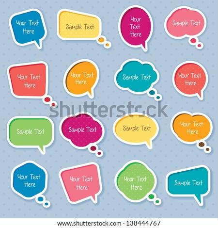 Cute dialog box digital clip art