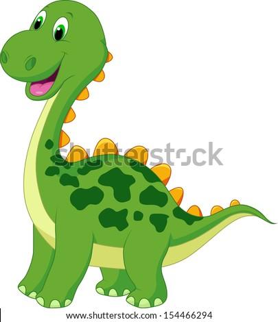 Cute Dinosaur Logo Cute Dinosaur Cartoon Stock