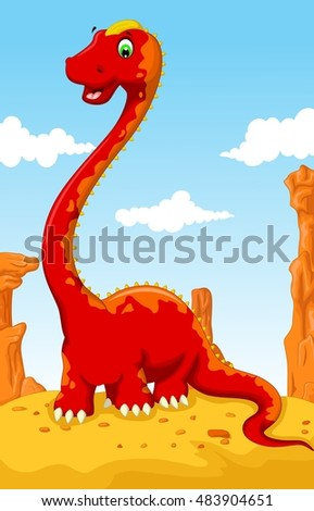 cute dinosaur cartoon with