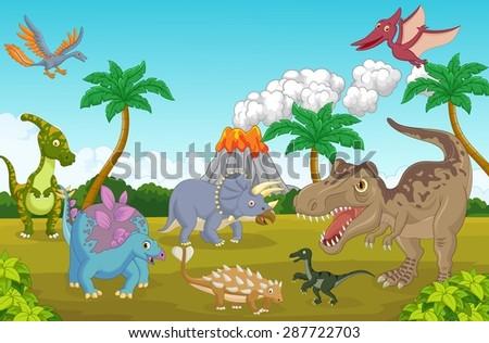 cute dinosaur happy