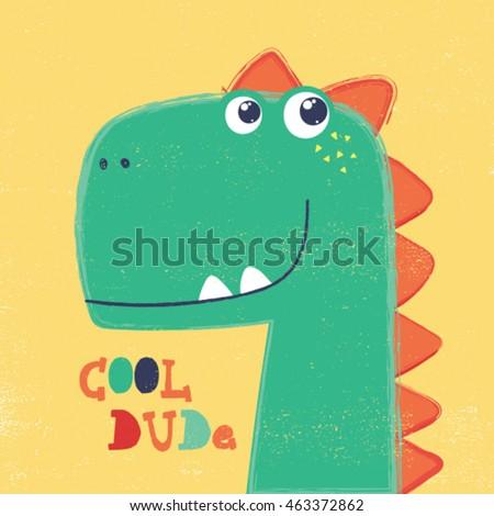 cute dinosaur head drawing for