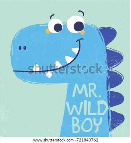 cute dinosaur illustration as