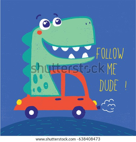 cute dinosaur illustration with