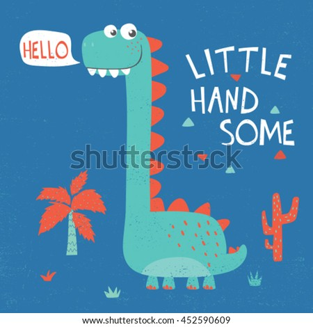 cute dinosaur illustration with