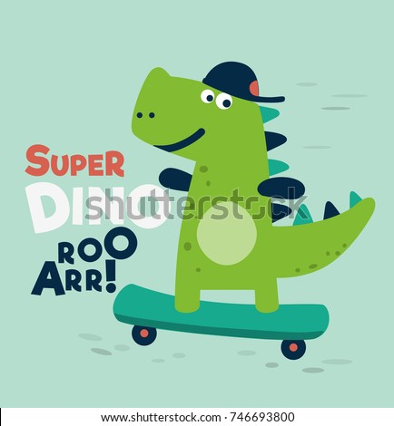cute dinosaur rides on