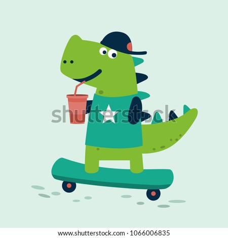 cute dinosaur rides on