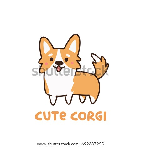cute dog breed welsh corgi. it...