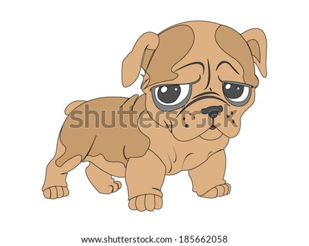 cute dog illustration   vector