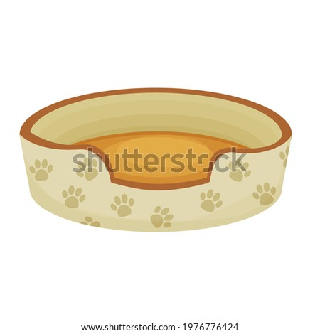 cute dog or cat bed decorated