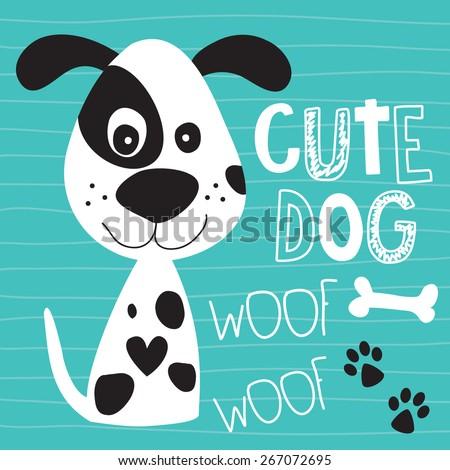 cute dog vector illustration