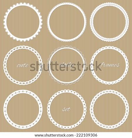 Cute doily frames set