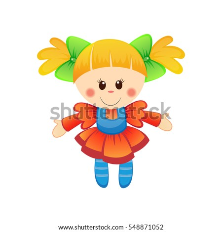 cute doll illustration
