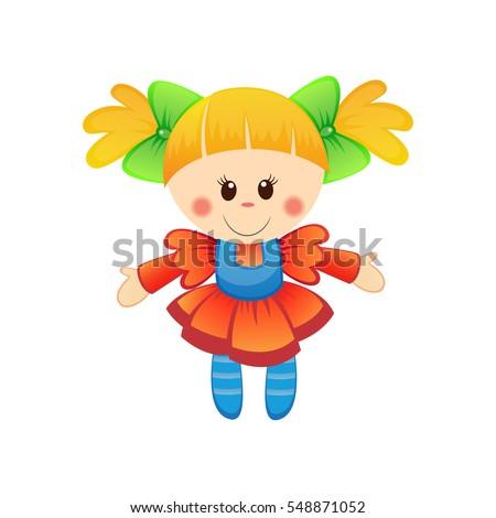 cute doll illustration