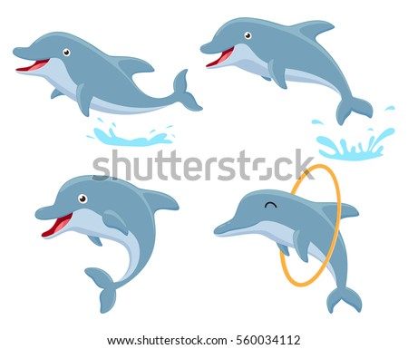 cute dolphin cartoon collection
