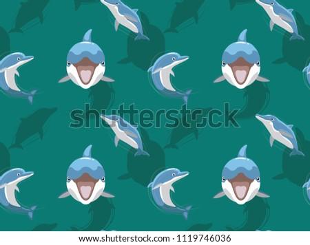 cute dolphin smile cartoon