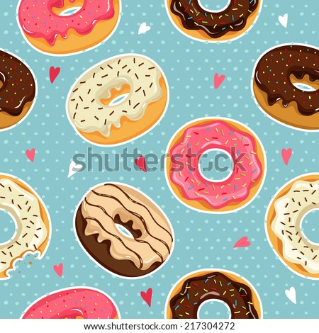 cute donuts with colorful