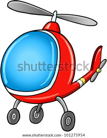 cute doodle cartoon helicopter