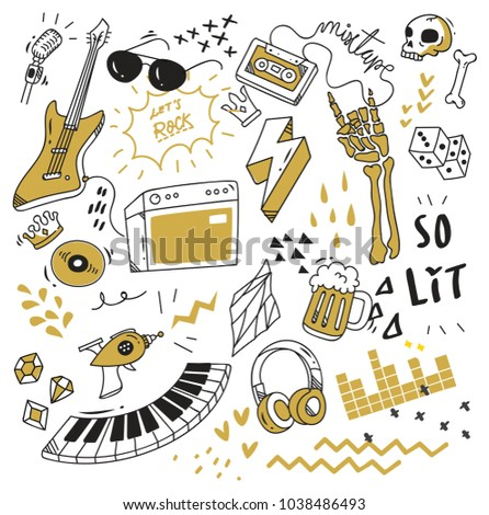 cute doodle collection  print