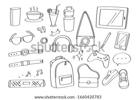 cute doodle lifestyle gadgets