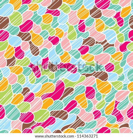 Cute doodle seamless pattern. Seamless pattern can be used for wallpaper, pattern fills, web page background, surface textures. - stock vector